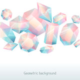 Abstract background with geometric crystals and minerals.  stock illustration