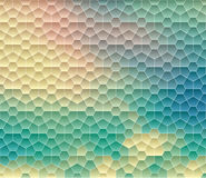 Abstract background, geometric design, vector illustration. Geometric tesselation of colored surface Stock Photos