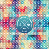 Abstract background, geometric design, vector illustration. Geometric tesselation of colored surface. Stock Photography