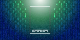 Abstract background with geometric dots and lines. Vector illust. Ration Stock Photography