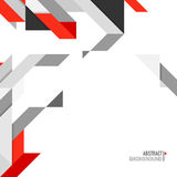 Abstract background with geometric element. Minimalistic design, creative concept, modern diagonal abstract background with geometric element. Red, gray and stock illustration