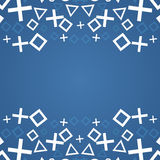 Abstract background with geometric elements. Blue abstract background with geometric symbols Stock Photo