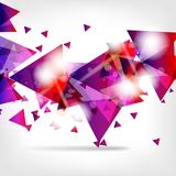Abstract background with geometric elements Stock Image