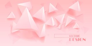Abstract background with geometric elements. Vector illustration Stock Illustration