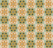 Abstract background with geometric flowers Stock Photos