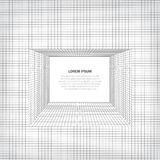 Abstract background with geometric grid. Optical illusion of the corridor from lines and forms. Abstract background with geometric grid. The surface is at an Stock Illustration