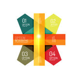 Abstract background, geometric infographic option templates. Vector colorful business presentation or data brochure layouts with sample text Royalty Free Stock Photo
