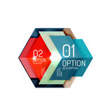 Abstract background, geometric infographic option templates. Vector colorful business presentation or data brochure layouts with sample text Royalty Free Stock Photography
