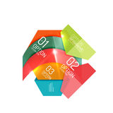 Abstract background, geometric infographic option templates. Vector colorful business presentation or data brochure layouts with sample text Stock Images