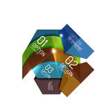 Abstract background, geometric infographic option templates. Vector colorful business presentation or data brochure layouts with sample text Stock Photo
