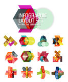 Abstract background, geometric infographic option templates Royalty Free Stock Photo