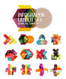 Abstract background, geometric infographic option templates Stock Photography