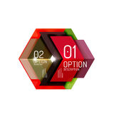 Abstract background, geometric infographic option templates Stock Photo