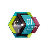 Abstract background, geometric infographic option templates Royalty Free Stock Photos