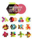 Abstract background, geometric infographic option templates Stock Images