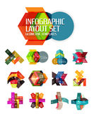 Abstract background, geometric infographic option templates Royalty Free Stock Image