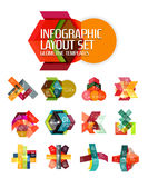 Abstract background, geometric infographic option templates Royalty Free Stock Photography