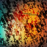 Abstract background with geometric motifs Stock Photo