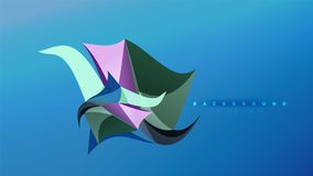 Abstract background - geometric origami style shape composition, triangular low poly design concept. Colorful trendy. Minimalistic vector illustration Royalty Free Illustration