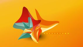 Abstract background - geometric origami style shape composition, triangular low poly design concept. Colorful trendy. Minimalistic vector illustration vector illustration