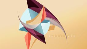 Abstract background - geometric origami style shape composition, triangular low poly design concept. Colorful trendy. Minimalistic vector illustration Stock Illustration