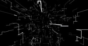 Abstract background with geometric pattern, futuristic perspective black and white grey
