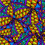Abstract background of geometric patterns. Abstract geometric background of Doodle patterns Stock Photo