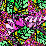 Abstract background of geometric patterns. Doodle drawing Vector Illustration