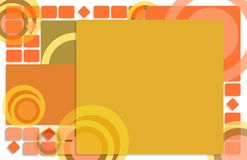 Abstract background of geometric shapes. Illustration eps10 Royalty Free Stock Photography