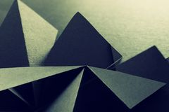 Abstract background of geometric shapes. Dark tones.  stock photo