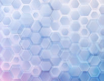 Abstract background of geometric shapes. hexagons with rounded corners Stock Image