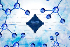 Abstract background with geometric shapes. Molecules design. Atoms. Royalty Free Stock Photos