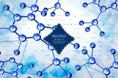 Abstract background with geometric shapes. Molecules design. Atoms. Stock Photography