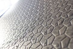 Abstract background of geometric shapes, shapes on the pavement, a futuristic background of hexagons stock image