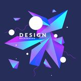 Abstract background with geometric shapes. Vector illustration. In flat minimalistic style Vector Illustration