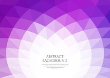 Abstract background with geometric waves. Space for text. Bright shades of purple vector illustration