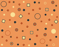 Abstract background. Abstract geometric background whith circle, square and star Royalty Free Stock Photography