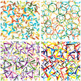Abstract background from geometrical figures. Seamless pattern. Vector Royalty Free Stock Images