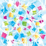 Abstract background with geometrical objects Stock Photography