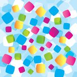 Abstract background with geometrical objects Royalty Free Stock Image