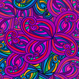 Abstract background of geometrical patterns drawing. Abstract background of colorful Doodle patterns vector illustration