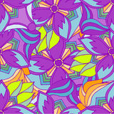 Abstract background of geometrical patterns drawing Royalty Free Stock Photos