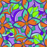 Abstract background of geometrical patterns drawing orange Stock Images