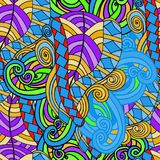 Abstract background of geometrical patterns drawing Royalty Free Stock Photo
