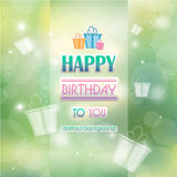 Abstract background with gifts birthday. Happy birthday Stock Photography