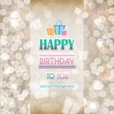 Abstract background with gifts birthday. Happy birthday. Abstrac Stock Images