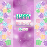 Abstract background with gifts birthday. Abstract background with gifts birthday, present, colour stock illustration