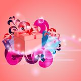 Abstract background with gifts Royalty Free Stock Photos