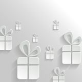 Abstract Background with Gifts. Vector Abstract White Background with Gifts Stock Image