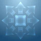 Abstract background with glass arrows Royalty Free Stock Photography